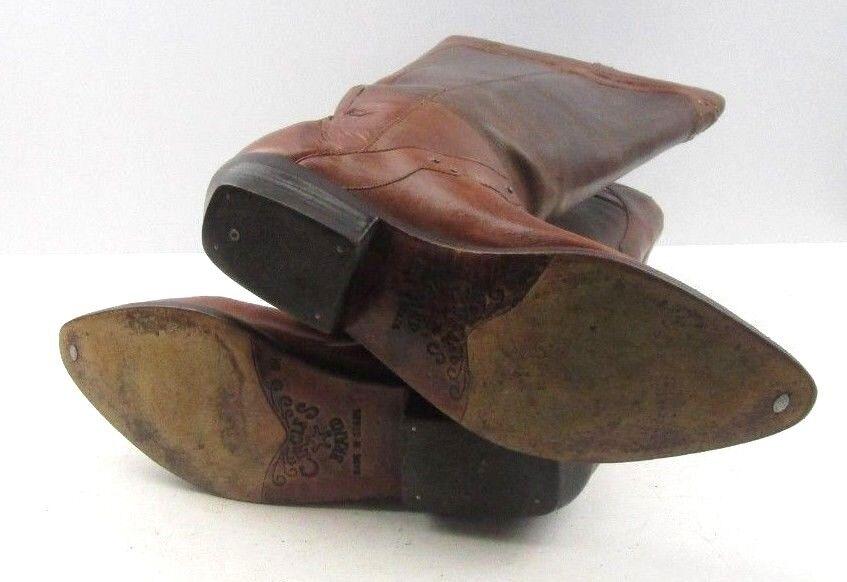 Círculos de de de señoras de cuero Marrón Western Cowboy botas Talla  8 M afd370