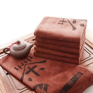 Deep-color-cloth-Tea-towels-Coffee-color-towel-Chinese-character-tea-towels