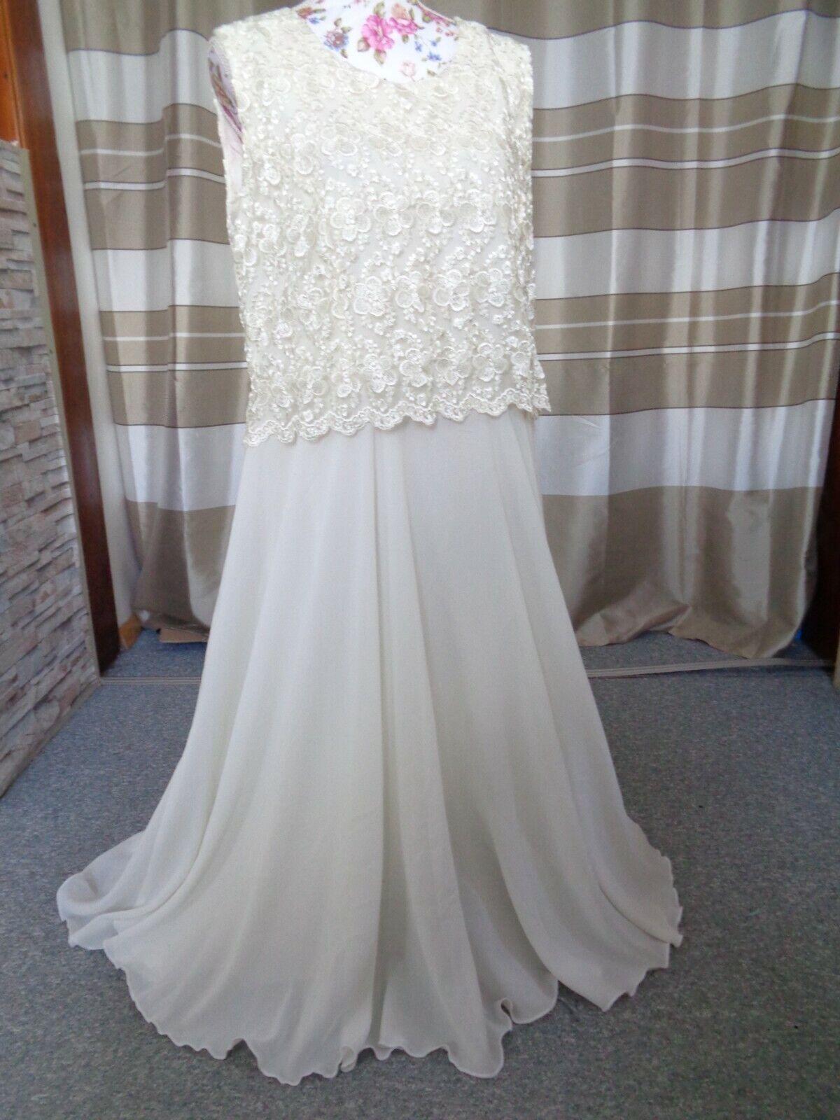 (110)Edles Damen Braut Standesamt Abend Kleid GR: 42