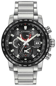Citizen Eco Drive A-T Men's World Time Chronograph 44mm Watch AT9071-58E