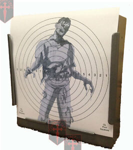 100-Air-Rifle-Shooting-SG-ZOMBIE-Targets-14cm-card-Pistol-Deluxe-275gsm-card