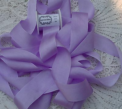 4MM WIDE 25 YDS ~FRENCH //LILAC  ~  COLOR 100/%PURE SILK EMBROIDERY RIBBON 1//8/""