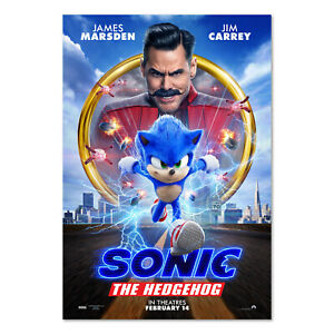 Sonic The Hedgehog 2020 Movie Poster Official Art High Quality Prints Ebay