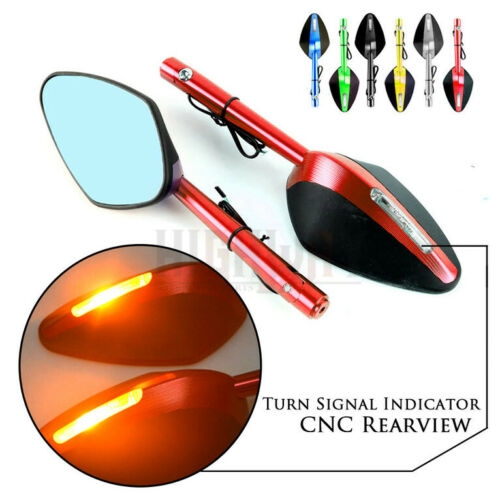 CNC Rearview Side Mirror LED Turn Signal Light For BMW F650GS K1200S R SPORT