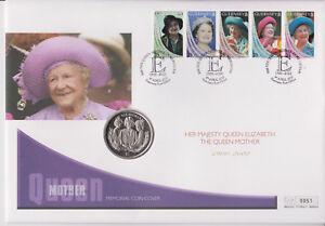 Guernsey GB PNC moneda Cubierta 2002 reina madre Memorial $1 moneda de Sierra Leona 0051