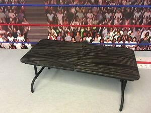 WWE Wrestling Jakks Brown Three Piece Breakaway Table Accessory for Figures