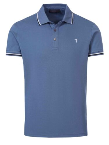 TRUSSARDI Polohemd Poloshirt 32T001751T04672 blau