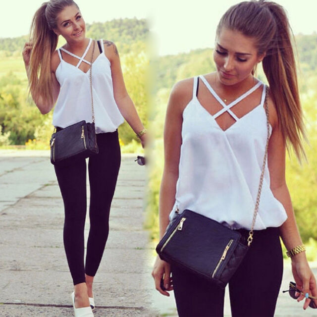 New Fashion Women's Summer Vest Sleeveless Shirt Blouse Casual Tank Tops T-Shirt