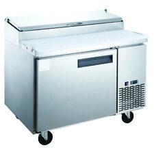 New Dukers Dpp44 6 S1 Commercial Single Door Pizza Prep Table Refrigerator