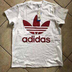 Adidas-Red-Trefoil-Small-Womens-T-Shirt