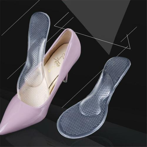 Foot Care Arch Support Shoes Insoles Silicone Gel Shoes Insert Pads Women MA