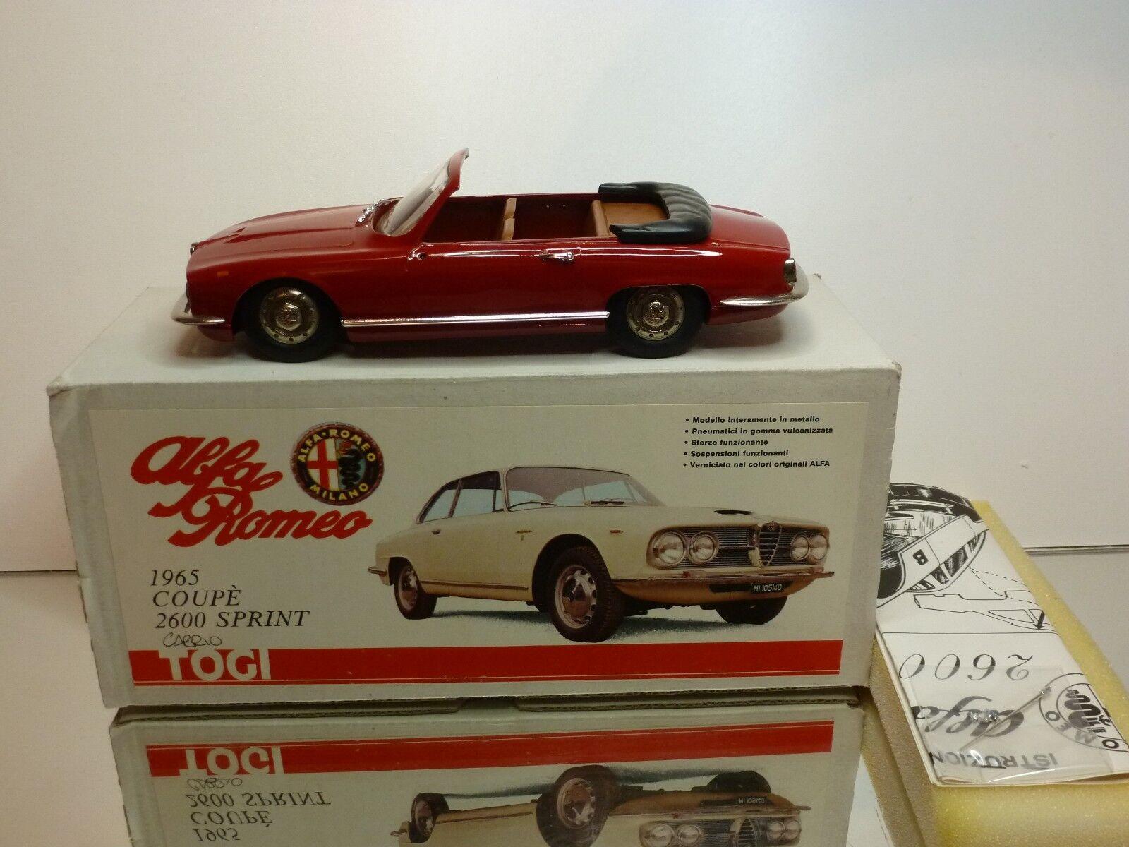 TOGI 6 61 ALFA ROMEO 2600 CABRIOLET 1965 - rojo 1 23 RARE  - EXCELLENT IN BOX