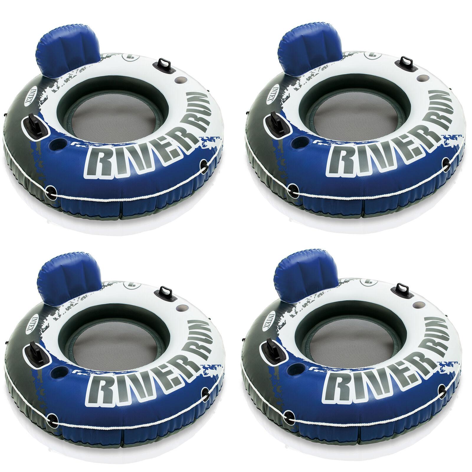 4 Intex River Run I Inflatable Water Tube Lake Floating Tubes 58825EP
