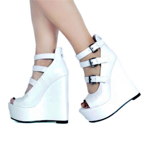 gesp hak pumps schoenen N94 Hoge Platform Wedge Stijlvolle Partij Zip dames nqZwBaW0fS