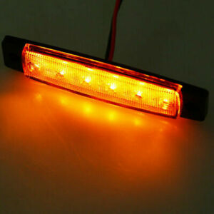 1PC-Amber12V-6-LED-Side-Marker-Light-Clearance-Lamp-Front-Rear-Universal