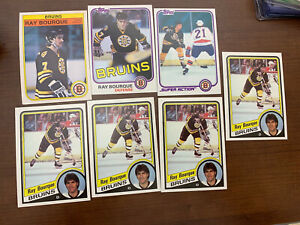 Ray Bourque Lot 1981 82 84 Topps OPC NHL Boston Bruins