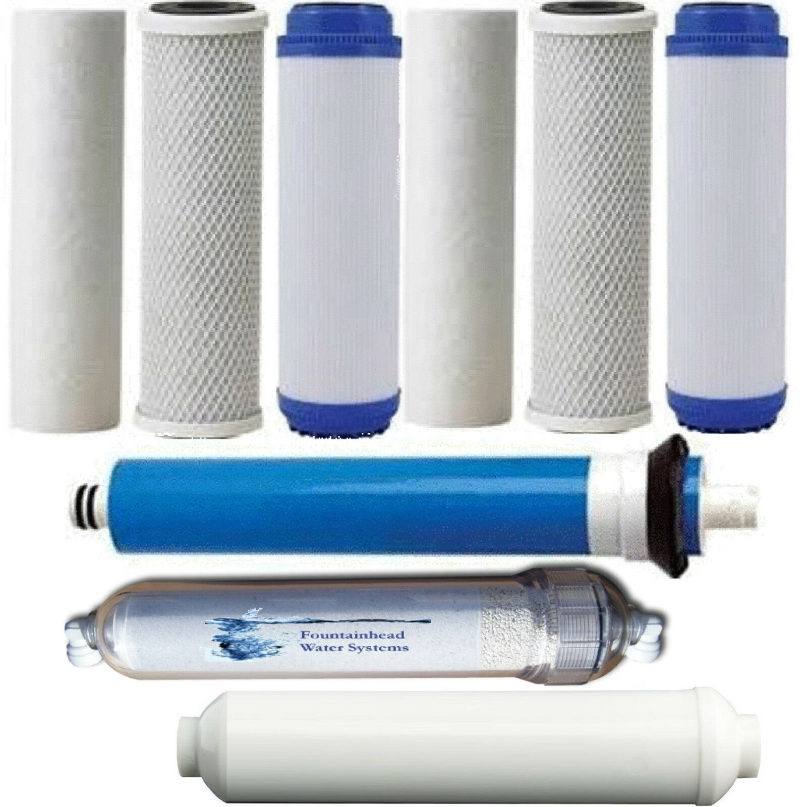 Osmose inverse 2 Sédiments Gac carbone clair Alcaline 75 Filtre Gotham Police Department R.O Membrane
