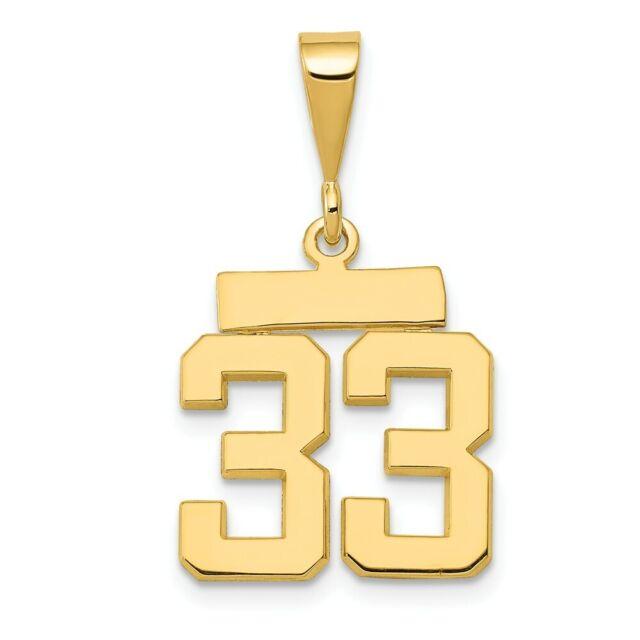 Golden Fancy Numbers Charm