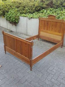 altes bett frankreich um1900 pitch pine 120 x 190 landhaus shabby chic daybed ebay. Black Bedroom Furniture Sets. Home Design Ideas