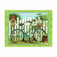 Lang Blue Bicycle Boxed Notecard By Susan Winget 4 X 5 Inches 1... Free Shipping
