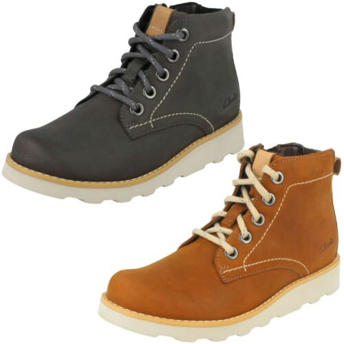 Boys Clarks Dexy Top Casual Boots