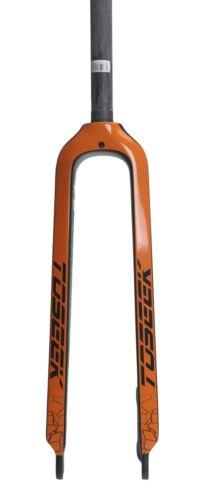 """Carbon 3K Mountain Bike Fork Disc Brake 1-1//8/"""" Bicycle Rigid Forks 26//27.5//29er"""