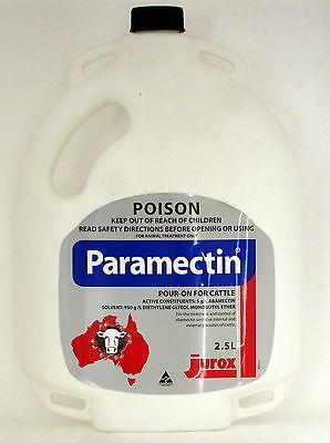 PARAMECTIN POUR-ON FOR CATTLE 2.5L (Equiv. Avomec / Virbamec Cattle Pour-On)