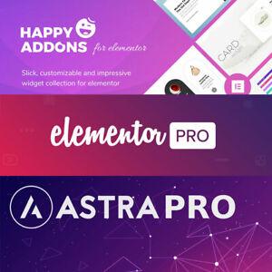 Elementor Pro,Happyaddons & Astra Theme pro WordPress ...