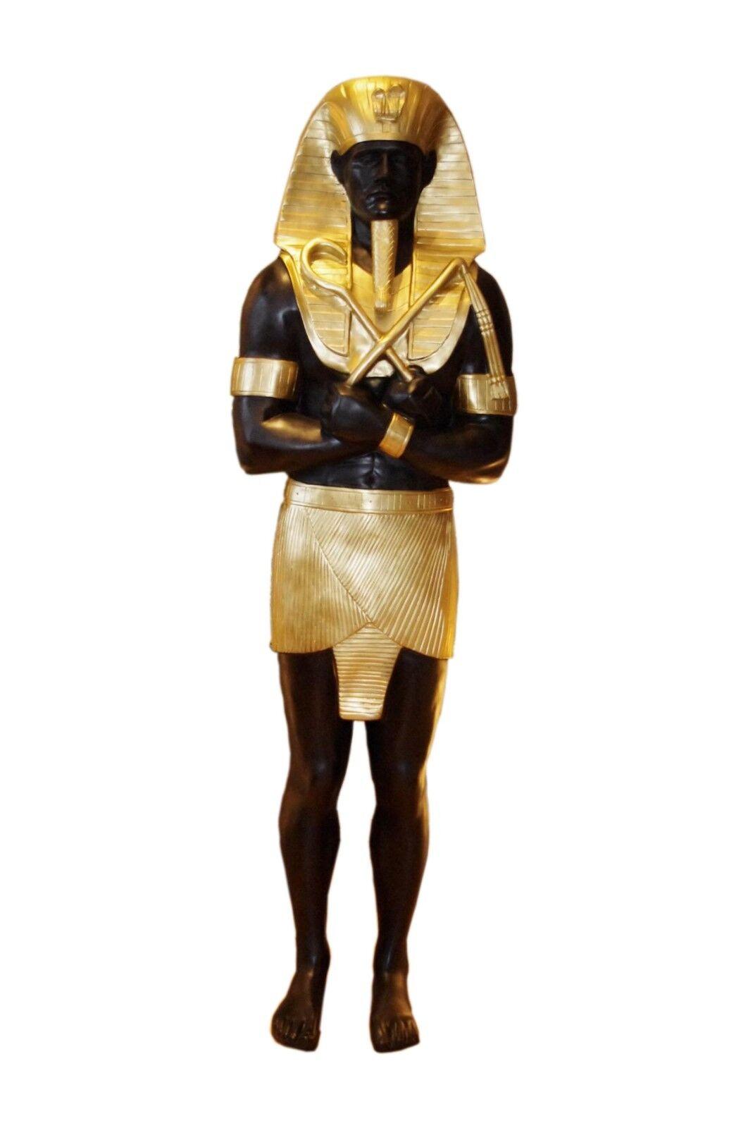 1 x Pharao XXL Anubis Schakal  Rar Ägyptische Lebensgroße Figur Figuren Ramses