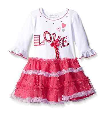 Bonnie Jean NEW dress sz 2T 3T Valentine/'s Day girl clothes heart red