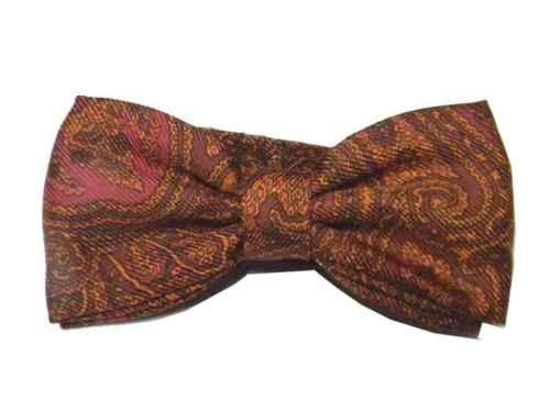 PAPILLON uomo DISEGNO CASHMERE FARFALLA disegni PAISLEY viola arancio lilla bow