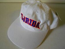NOS Vtg '90's Florida Gators Cap Official Licensed Collegiate ADJ Orig Tag White