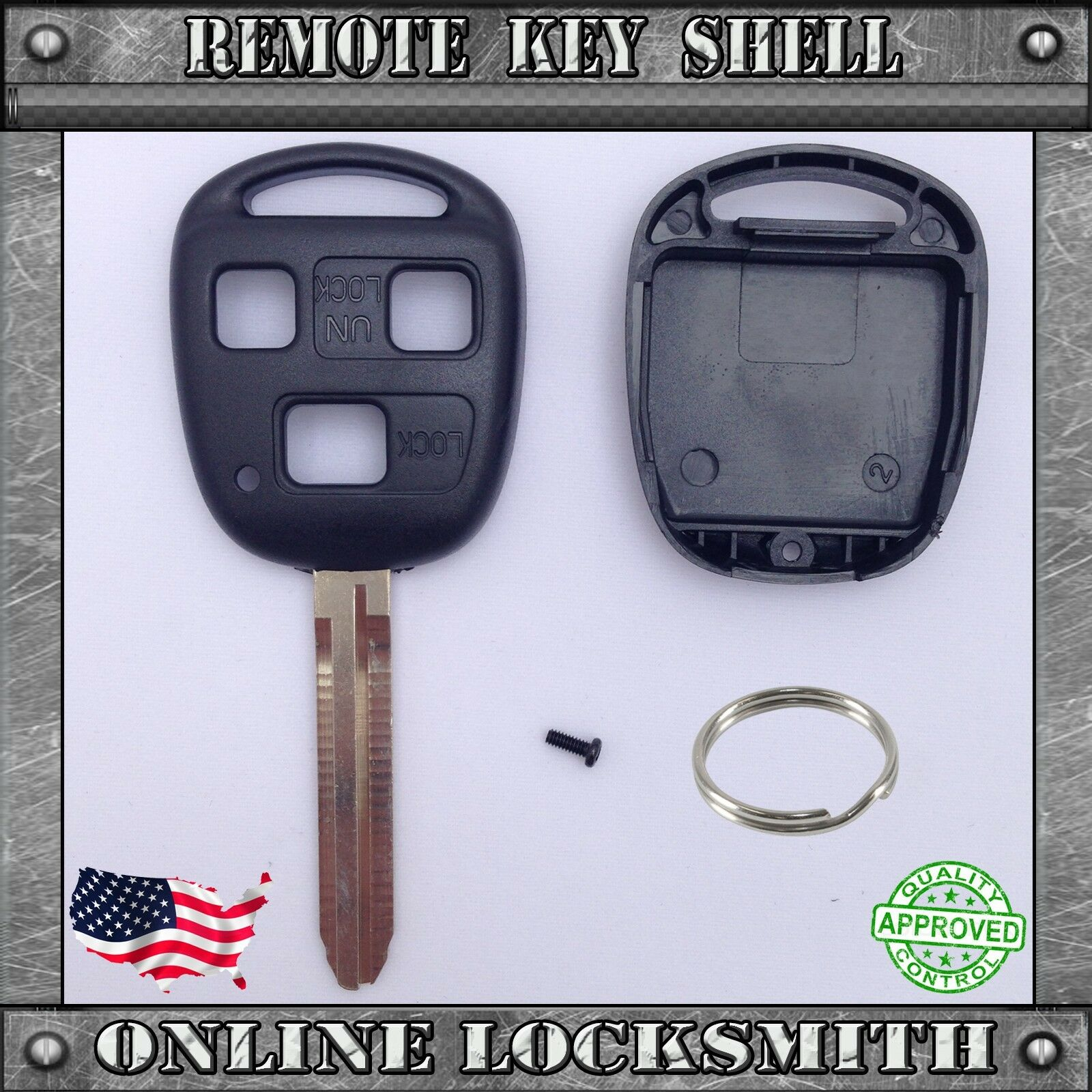 New Remote Key Shell Replacement Case For Toyota Fj