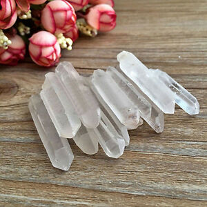 2pcs-Tibet-Natural-Clear-Crystal-White-Quartz-Points-Terminated-Wand-Specimen