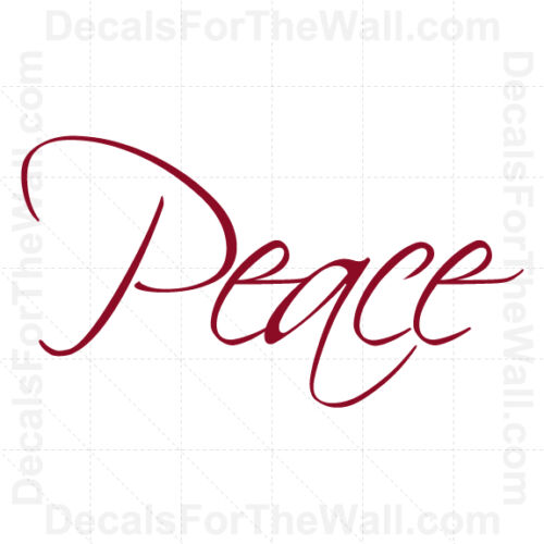 Peace Inspirational Wall Decal Vinyl Art Sticker Quote Decor Decoration W16