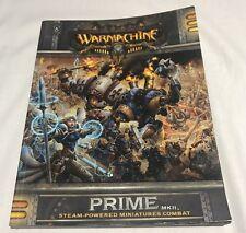 Warmachine Prime Mark II rule book