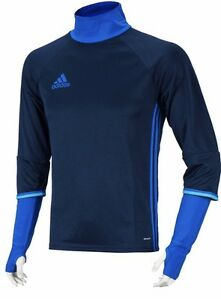 Details about Adidas S93547 Men's Blue Condivo 16 Long Sleeve Soccer Training Top Size S M