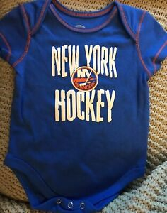buy online db19f e4b50 Details about Infant New York Islanders One Piece Outfit Creeper - 3/6  month - Blue - NWOT