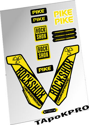 Brand New Custom RockShox Pike fork Nukeproof glossy lamination stickers
