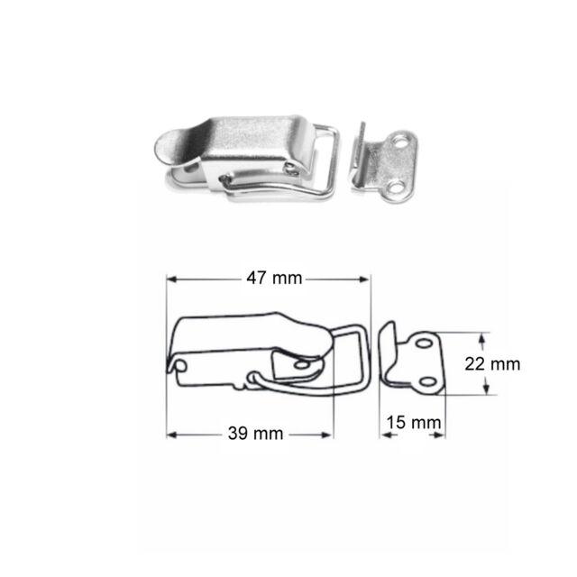 Hebelverschluss 115 x 50 mm V4A Spannverschluss A4 Edelstahl Kistenverschluss