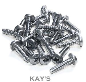 Stainless Steel Countersunk Self Tapping Screws 20 Pk. 3//8/'/' No.4 x 9mm