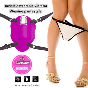 Female-Wearable-Butterfly-10-Speed-Strap-Invisible-Underwear-Vibrator-in-Panty