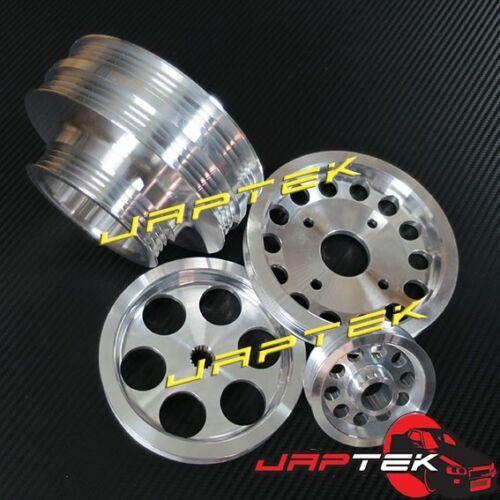 Lightweight Underdrive Pulley Set for Nissan 300zx z32 VG30DETT 3.0LT Twin Turbo