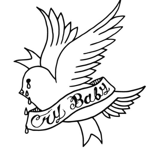 Lil Peep Bird VINYL DECAL Cry Baby tattoo STICKER Over When You/'re Sober