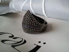 ▄▀▄ breiter cai jewels Silberring ▄▀▄ Gr. 56, echt Silber 925, schwarz, NEU ▄▀▄