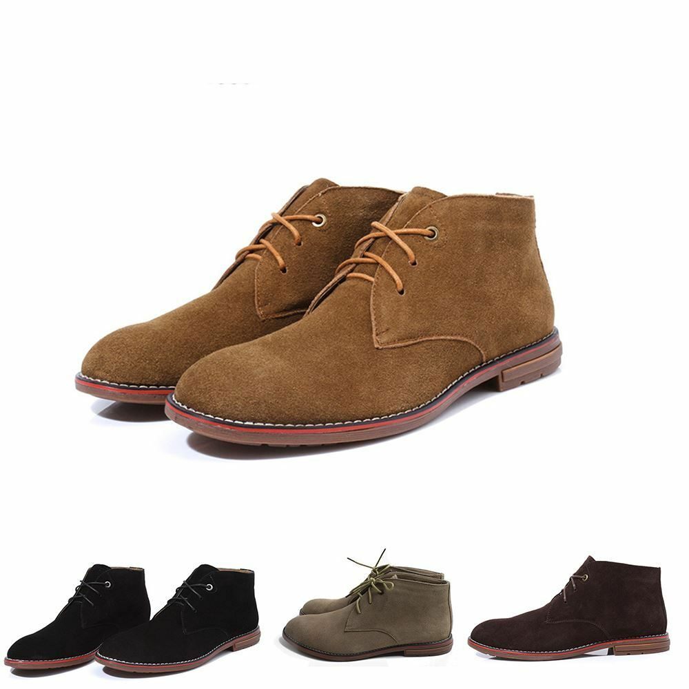 c62382f4239 New Suede Casual Lace Up Fashion Desert Boots Ankle Trainers shoes Mens  Winter nrabnj1081-Casual Shoes