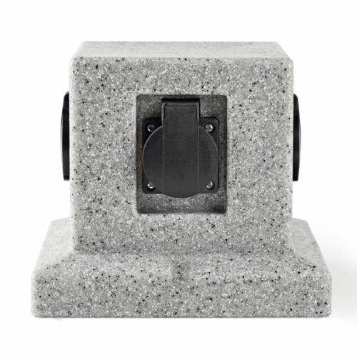 Extérieur de distribution 4 mets doses Cube Pierre Optique terrasses alimentation Gris