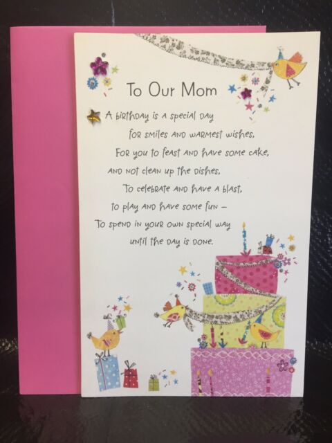 Wondrous American Greetings Happy Birthday Mom Card For Sale Online Funny Birthday Cards Online Fluifree Goldxyz
