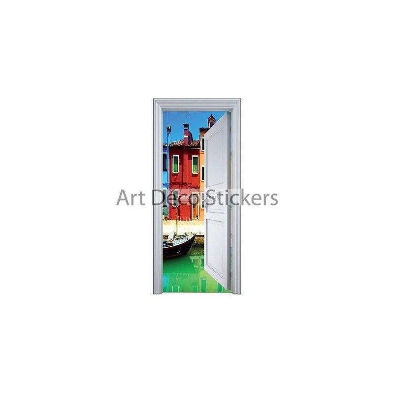 Aufkleber Tür Schein Auge Dorf 90x200cm 9108 Prestashop-5562