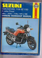 haynes manual 737 for suzuki gsx gs1000 1100 1150 4 valve fours 79 rh ebay co uk 1991 Suzuki Sidekick Manual Suzuki Boulevard C50 Owner's Manual